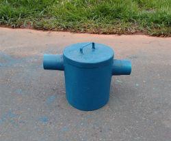Caixa de retenção e passagem gradeada para esgoto e saneamento básico ambiental em Belo Horizonte BH MG