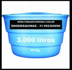 Caixa dágua de 3000 litros de fibra de vidro em Bh Belo Horizonte Contagem