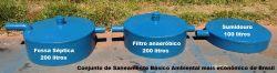 Fossa séptica, filtro anaeróbico e sumidouro de fibra de vidro saneamento fabricados em Belo Horizonte BH MG
