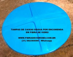 Tampas de caixas dágua de fibra de vidro fabricadas por encomenda sob medida em Belo Horizonte BH MG