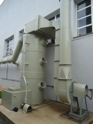 Lavador de gases industriais de fibra de vidro - Fabricante