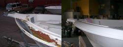 Reforma reparo restaurações barcos, lanchas, iates de fibra de vidro em BH Belo Horizonte MG